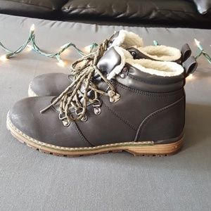 Cat and Jack lace-up boots new